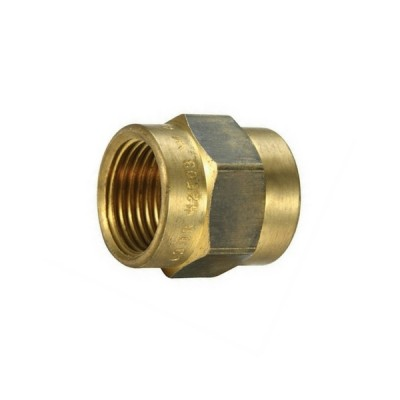"15mm 1/2"" Brass Socket Hex F&F"