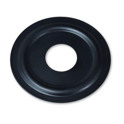 "15mm 1/2"" BSP Flat Cover Plate Matt Black Metal Round"