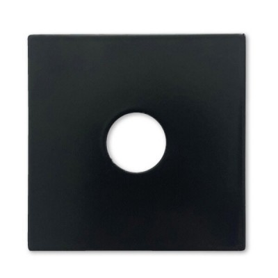 "15mm 1/2"" BSP Flat Cover Plate Matt Black Metal Square"