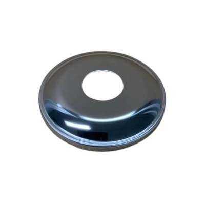 """15mm 1/2"""" BSP X 10mm Rise Cover Plate Marine Grade Stainless"""