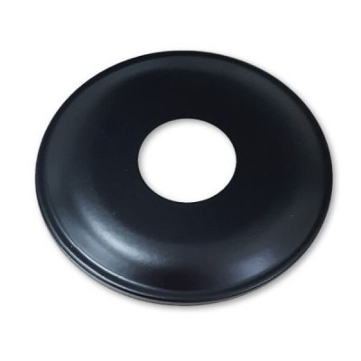 "15mm 1/2"" BSP X 10mm Rise Cover Plate Matt Black Metal Round"