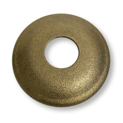 "15mm 1/2"" BSP X 10mm Rise Cover Plate Rough Brass Metal"