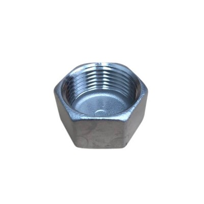 "15mm 1/2"" Cap Hex BSP Stainless Steel 316 150lb"