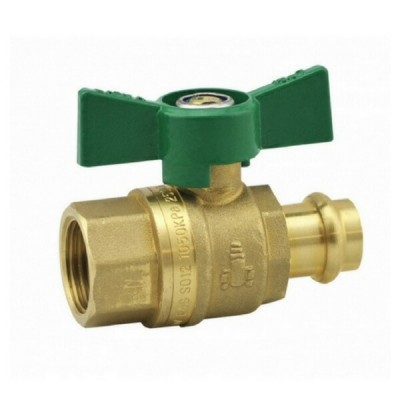 15mm Female X Press Crimp Ball Valve Water Butterfly Handle