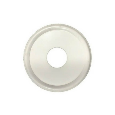 "15mm 1/2"" Flat Cover Plate White Metal Suit BSP"