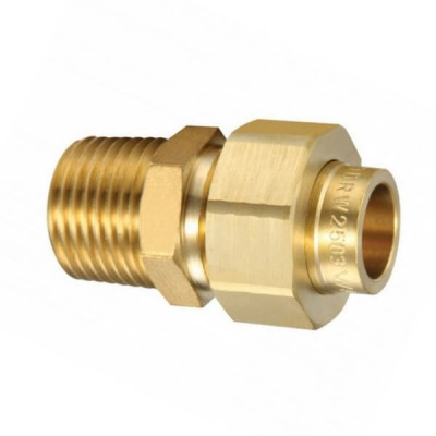 15mm Male BSP X Capillary CU Brass Barrel Union