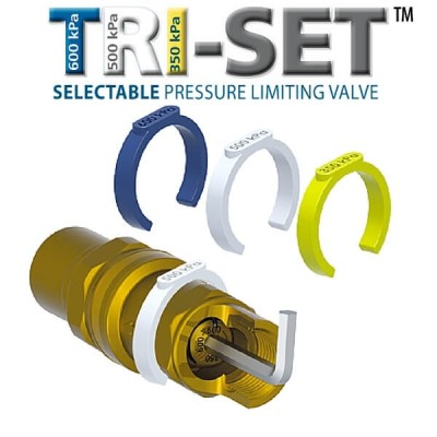 15mm Pressure Limiting Valve Triset Olive 350/500/600 Kpa AVG PLV15C