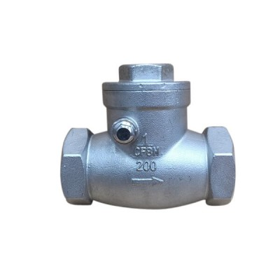 "15mm 1/2"" Swing Check Valve 316 Stainless Steel F&F"