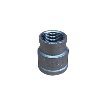 "15mm 1/2"" X 10mm Socket Reducing BSP Stainless Steel 316 150lb"