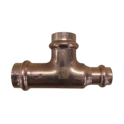 "20mm X 20mm Ctr X 15mm 1/2"" Reducing Tee Water Copper Press"