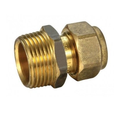 "20mm Male BSP X 15C 1/2"" Copper Olive Union Compression"