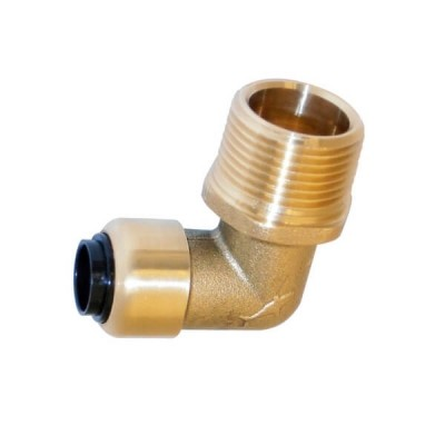 "20mm Male X 15mm 1/2"" Elbow Sharkbite Copper Push RA380"