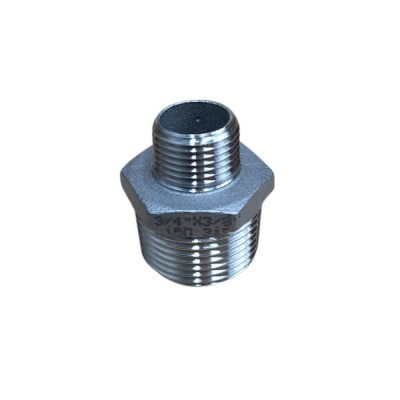 "20mm X 10mm 3/8"" Hex Nipple BSP Stainless Steel 316 150lb"