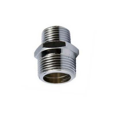 "20mm X 15mm 1/2"" Brass Hex Nipple BSP Chrome"