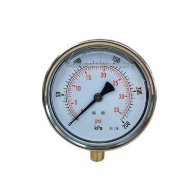 250 Kpa 100mm X 10mm Liquid Pressure Gauge