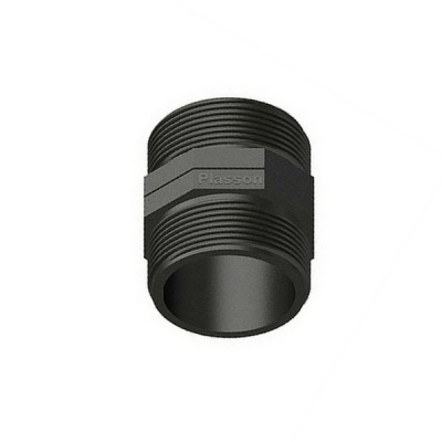 25mm Poly Hex Nipple Threaded