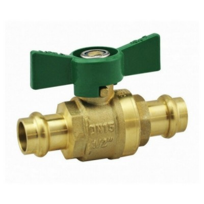 25mm Press Crimp Ball Valve Water Butterfly Handle