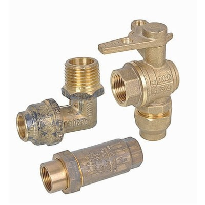 25mm Water Meter Kit Flared Compression