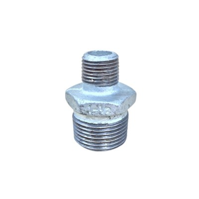 25mm X 15mm Galvanised Hex Nipple Reducing