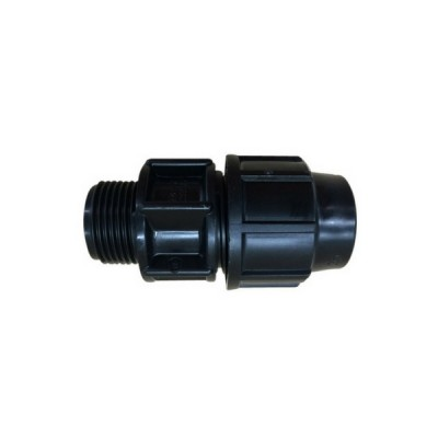 25P X 25Mi Adaptor Male Plasson Metric Poly