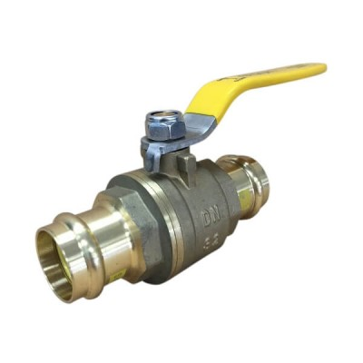 32mm Copper Press Crimp Lever Ball Valve Gas Approved