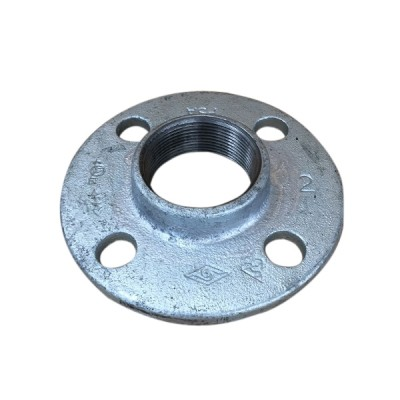 32mm Galvanised Flange Round Drilled