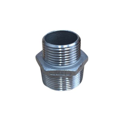 32mm X 25mm Hex Nipple BSP Stainless Steel 316 150lb