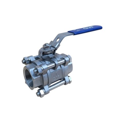 40mm 3 Piece Lever Ball Valve 316 Stainless Steel F&F