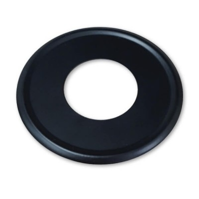 40mm Flat Cover Plate Matt Black Metal Suit PVC DWV