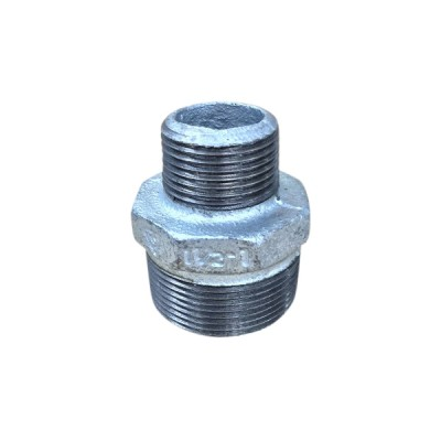 40mm X 25mm Galvanised Hex Nipple Reducing
