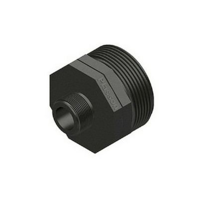 40mm X 25mm Poly Hex Nipple Threaded