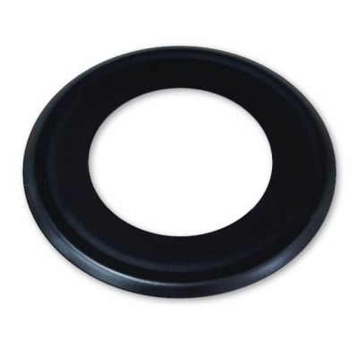 50mm Flat Cover Plate Matt Black Metal Suit PVC DWV