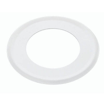 50mm Flat Cover Plate White Metal Suit PVC DWV