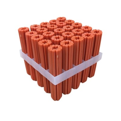 50mm Orange Wall Screw Plugs Pvc Pk25