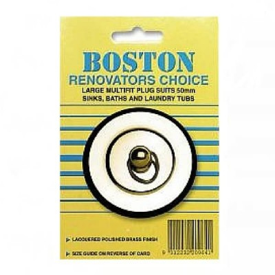 50mm Plug Multifit Polished Brass Boston 209641