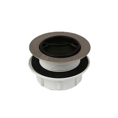 50mm Pvc Sink Plug & Waste Stainless Steel Trim