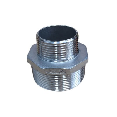50mm X 32mm Hex Nipple BSP Stainless Steel 316 150lb