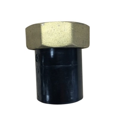 50mm X 50Fi Female Connector Brass Nut HDPE