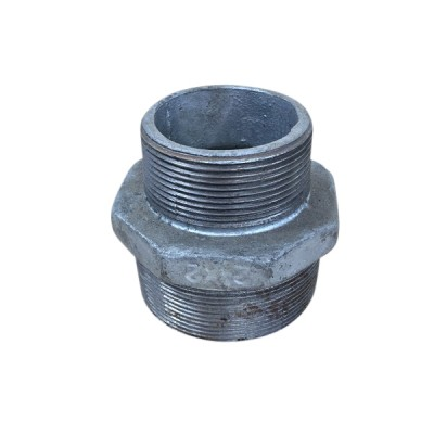 65mm X 50mm Galvanised Hex Nipple Reducing