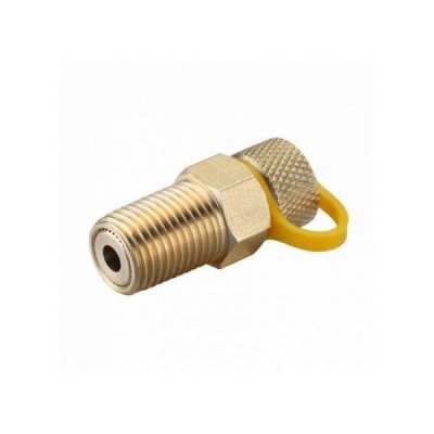 6mm Gas Test Plug Brass