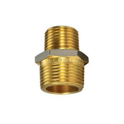 """6mm 1/4"""" X 3mm 1/8"""" Brass Hex Nipple BSP"""