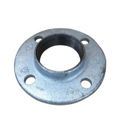 80mm Galvanised Flange Round Drilled