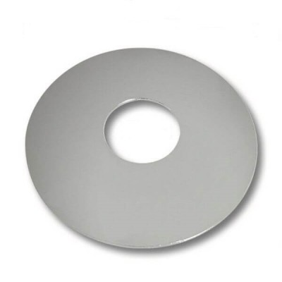 90mm Round Tilers Boo Boo Cover Plate Chrome Metal