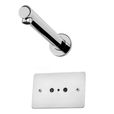 Autoflo Wall Mount Sensor Tap Chrome With Mount Holes 24V Mains Power 100-0177