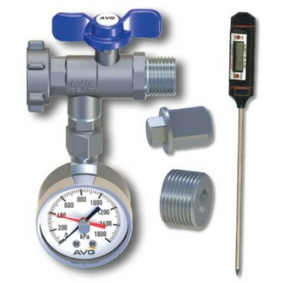 AVG Plumbers Water Pressure Test Kit PTK-1