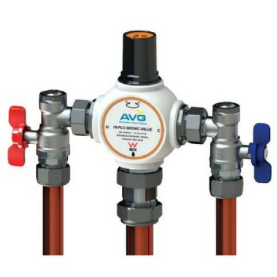AVG Thermostatic Mixing Valve 25mm Hi Flo TMV20ABV-25HF