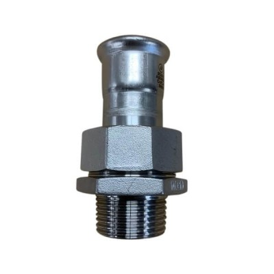 "15mm x BSP 3/4"" Male Union Socket Press Stainless Steel"