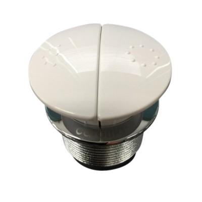 Caroma 416020W Care Round Cistern Button Dual Flush White