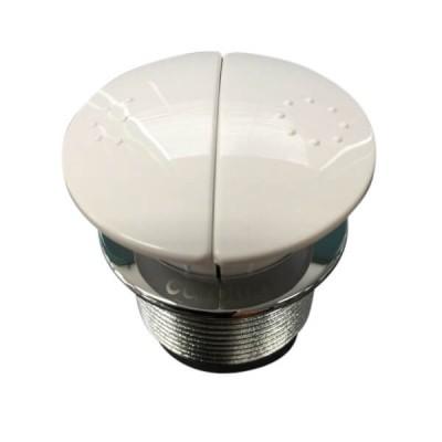 Caroma Care Round Cistern Button Dual Flush White 416020W