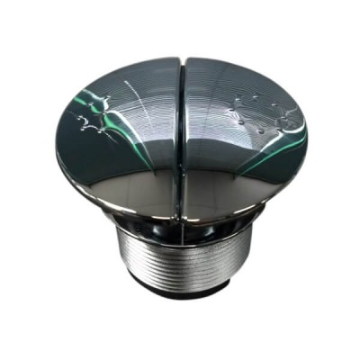 Caroma Care Round Cistern Button Dual Flush Chrome 687073C